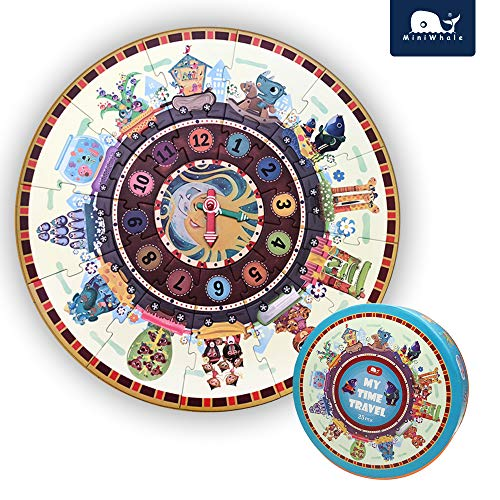 Numbers My Time Travel Round Floor Puzzle for Kids Age 3+ Grown Up Puzzles for Children (25Pcs,20In Diameter)