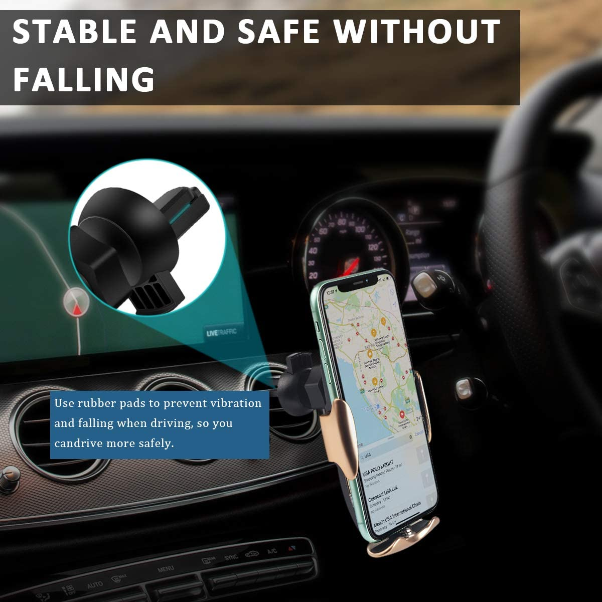 10W Fast Charging Smart Sensor Auto-Clamping Wireless Car Charger Mount for iPhone SE//11//11 Pro//11 Pro Max//XS Max Car Phone Mount Wireless Charger All Smartphone Galaxy S20//S20 Plus//Note10