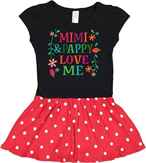 inktastic Mimi and Pappy Love Me Gifts Infant Tutu Bodysuit