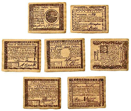 (Replica Colonial Banknote Set A and Set B)