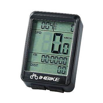 VORCOOL Ordenador de la bicicleta Velocímetro inalámbrico para bicicleta Cuentakilómetros de bicicleta a prueba de agua
