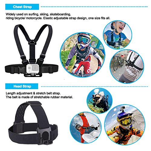 Soft Digits Accessories Kit For Gopro Hero 6 5 4 3