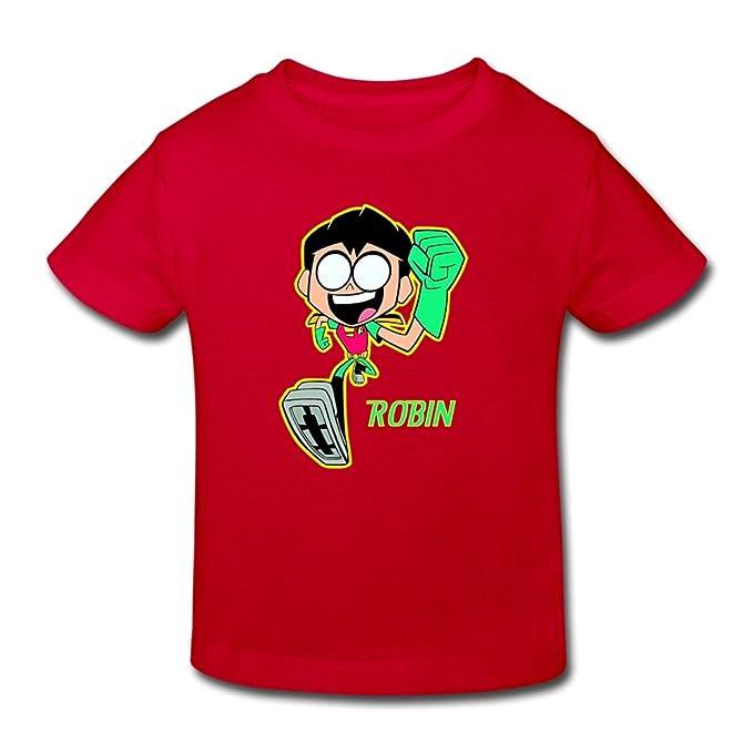 Amazon.com: Jeff Kid s Teen Titans Go Robin O-Neck jóvenes ...