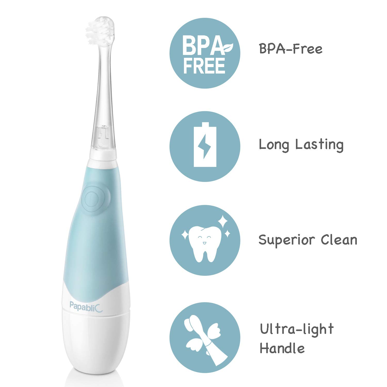Papablic BabyHandy 2-Stage Sonic Electric Toothbrush for Babies and Toddlers Ages 0-3 Years by Papablic (Image #8)