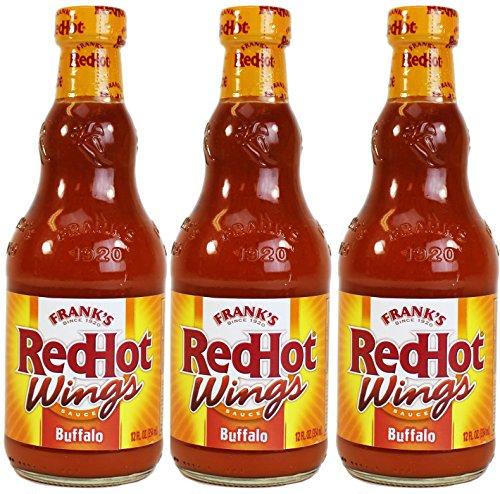 Frank's RedHot Buffalo Wing Sauce, 12 oz, 3 (Franks Red Hot Buffalo Sauce)