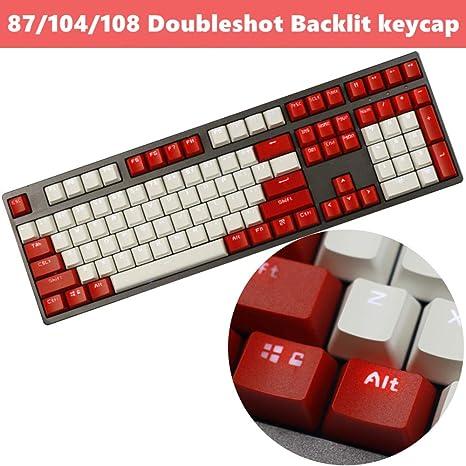 87 Keys 87//104 Keys Pulse PBT Translucent Backlit Keycap Keyset ANSI Layout OEM Profile for Cherry MX Mechanical Gaming Keyboard