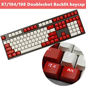 Keyboard keycaps PBT Doubleshot MX Keycaps Dolch ANSI Profile for 60/%//TKL 87//104//108 MX Mechanical Keyboard