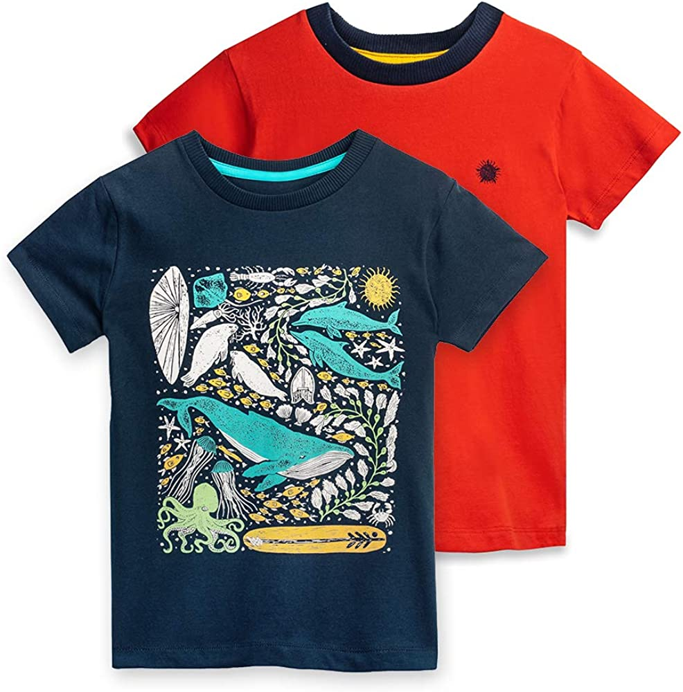 Organic Cotton Mightly Girls and Boys/' T-Shirts 2-Pack Kids Clothing Sets in Various Sizes and Colors