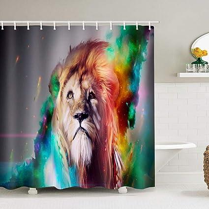 UHUSE Faith Lion Shower Curtain