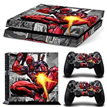 Ps4 Playstation 4 Console Skin Decal Sticker Dead Pool + 2 Controller Skins Set