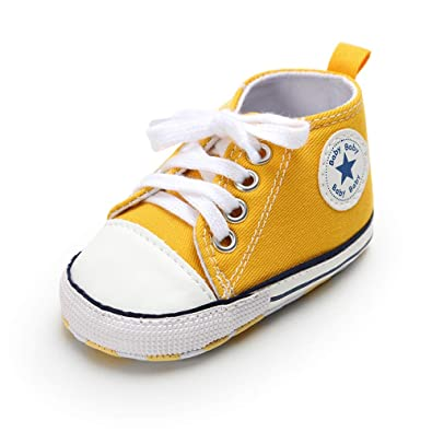RVROVIC Baby Boys Girls scarpa Canvas Toddler Sneakers Anti Slip Infant First Walkers 0 18 Months