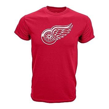 Levelwear Nhl Detroit Red Wings Core Logo T Shirt Amazon De Sport