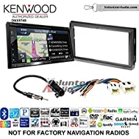 Volunteer Audio Kenwood DNX574S Double Din Radio Install Kit with GPS Navigation Apple CarPlay Android Auto Fits 2005-2006 Nissan Altima (Without Bose)