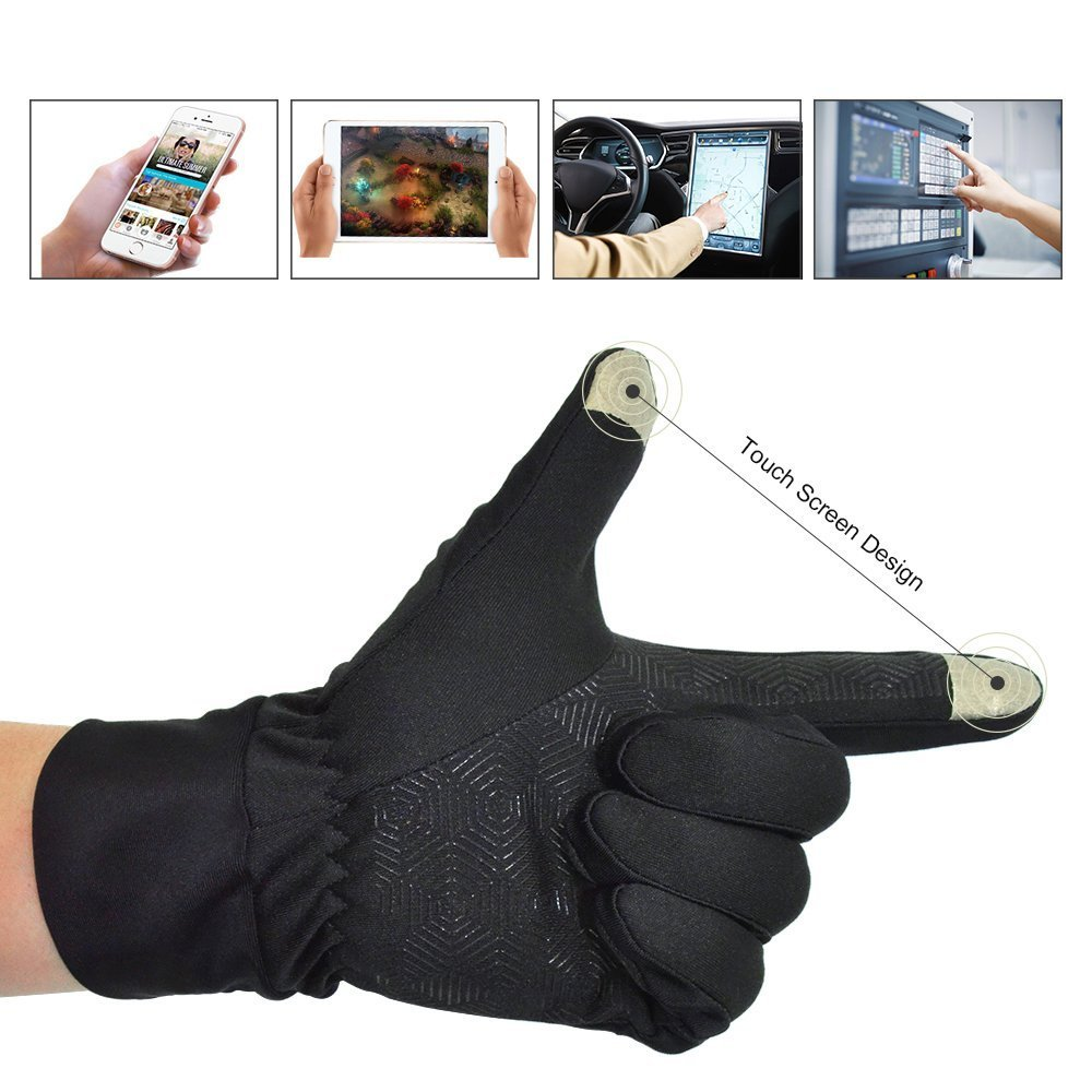 Singular point Touch Screen GlovesOutdoor Sports Gloves, Warm Gloves, Sports Gloves For Biking, Anti- Slip Gloves For Traveling-The Best For Men And Women (L)