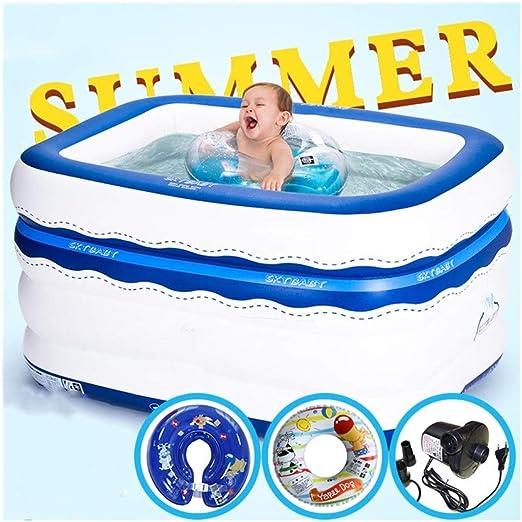 LYM & bañera Plegable Niños Piscina para niños Baño para Adultos ...