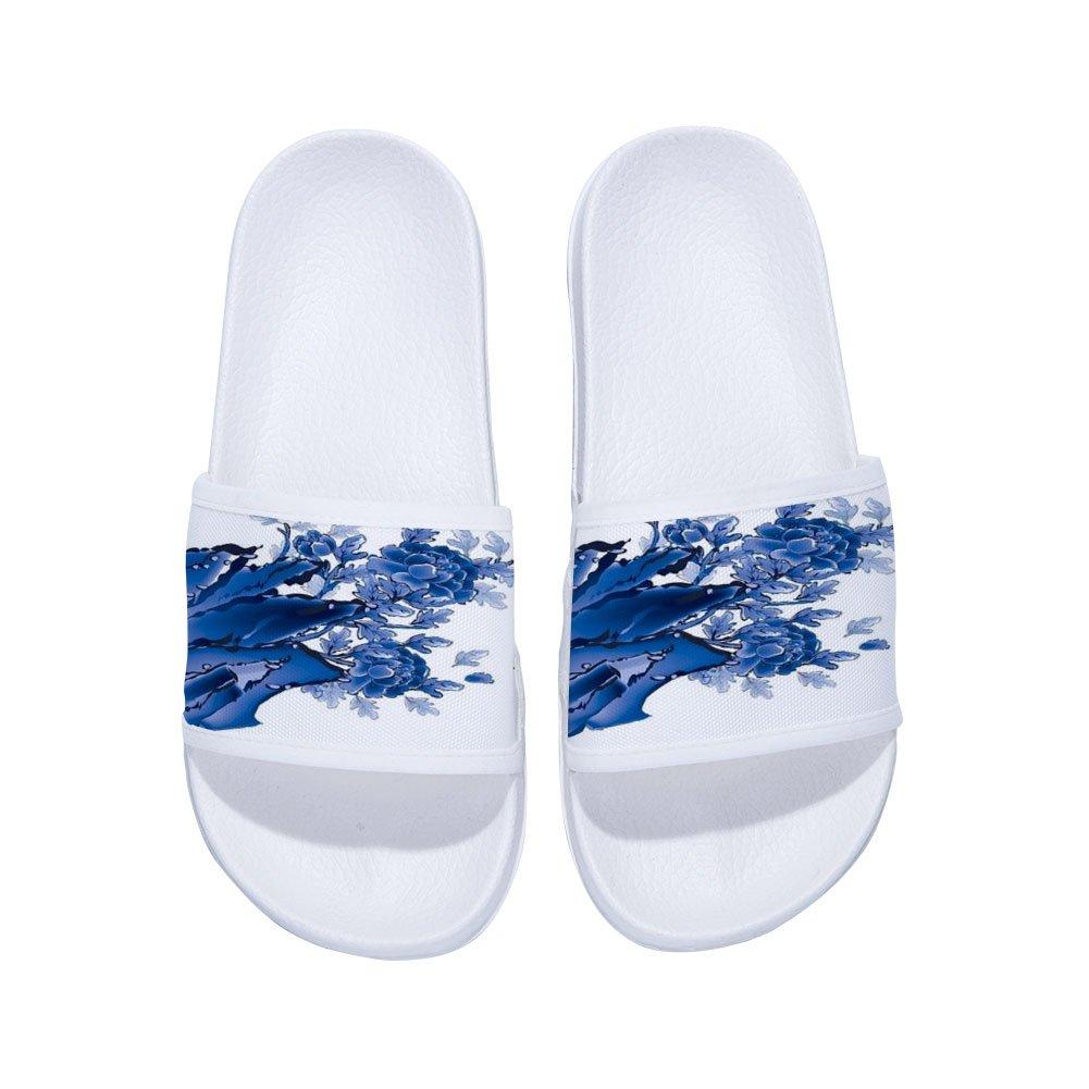 Eric Carl Girls Sandal Bath Shower Pool Swimming Slide Sandal Slippers with Flower(Little Kid/Big Kid)