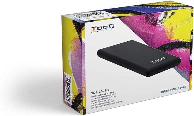 TooQ TQE-2533B - Carcasa para Disco Duro HDD de 2.5