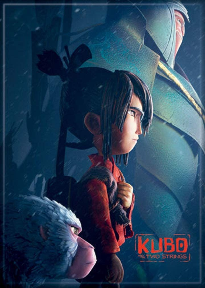 """Ata-Boy Kubo and The Two Strings Kubo and Beetle 2.5"""" x 3.5"""" Magnet for Refrigerators and Lockers"""
