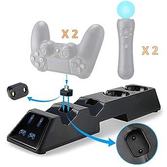 Thlevel Cargador Mando PS4, Estación de Carga USB, Protección ...