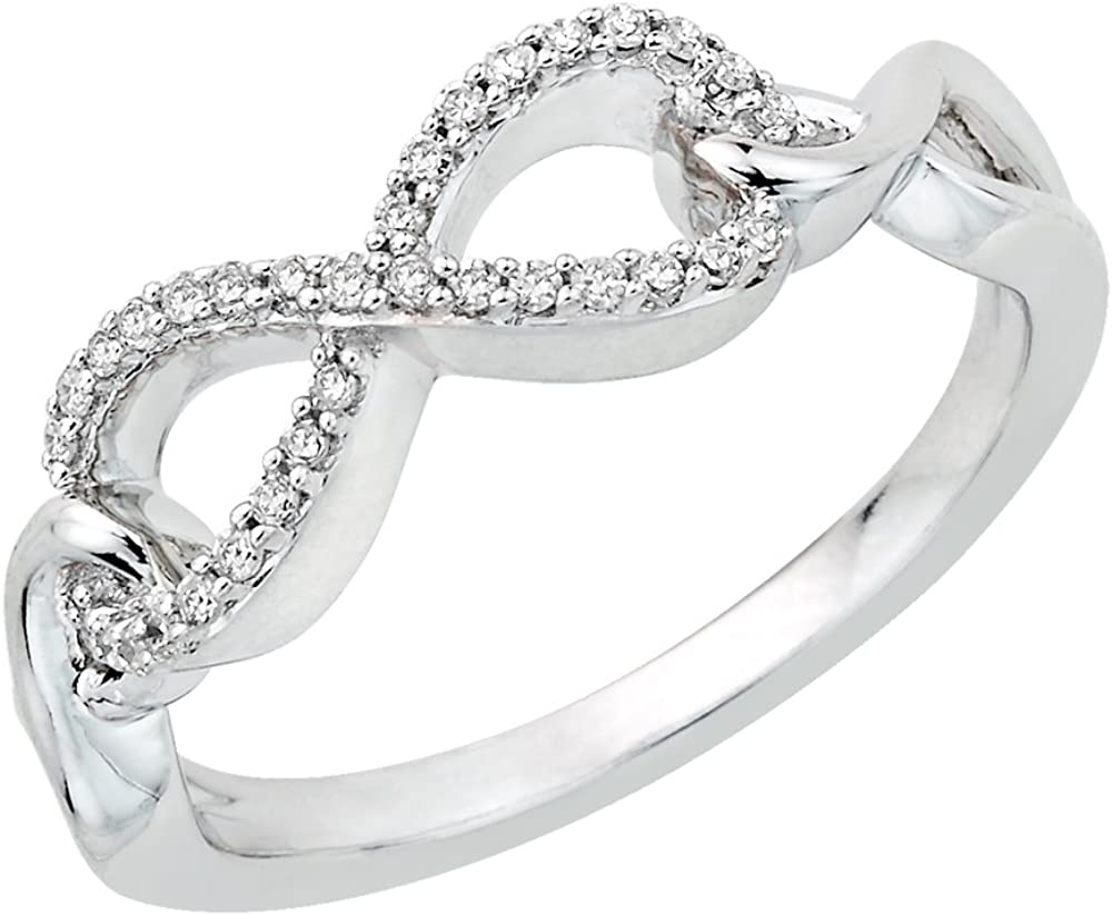 KATARINA Infinity Diamond Ring in Sterling Silver Size-11.25 1//8 cttw, G-H, I2-I3
