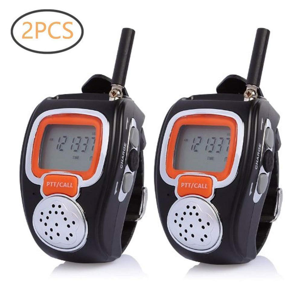 Walkie Talkie for Kids, Two-Way Long Range Watch Radio Transceiver Outdoor Game Interphone Toy - Gifts for Boy and Girls (2pcs)