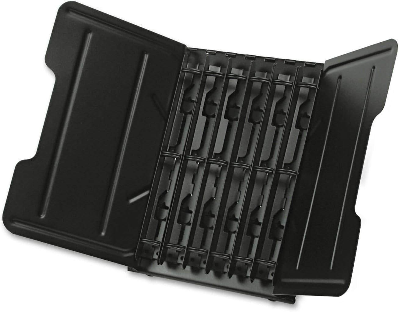 Tarifold Catalog Rack Starter Kits, 6 Sections, Black (50410)