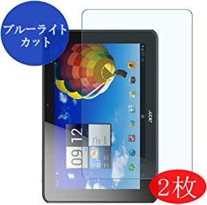 "【2 Pack】 Synvy Anti Blue Light Screen Protector for Acer iconia Tab 10.1"" A510 Anti Glare Screen Film Protective Protectors [Not Tempered Glass]"
