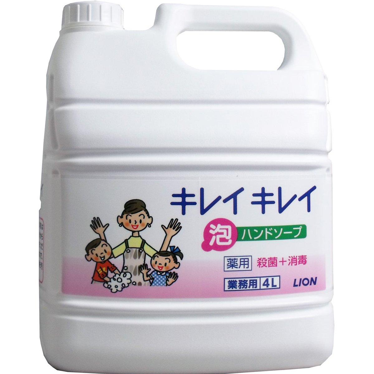 ライオン 業務用 キレイキレイ 薬用 泡ハンドソープ 4LX3本 B078FPSJ5T