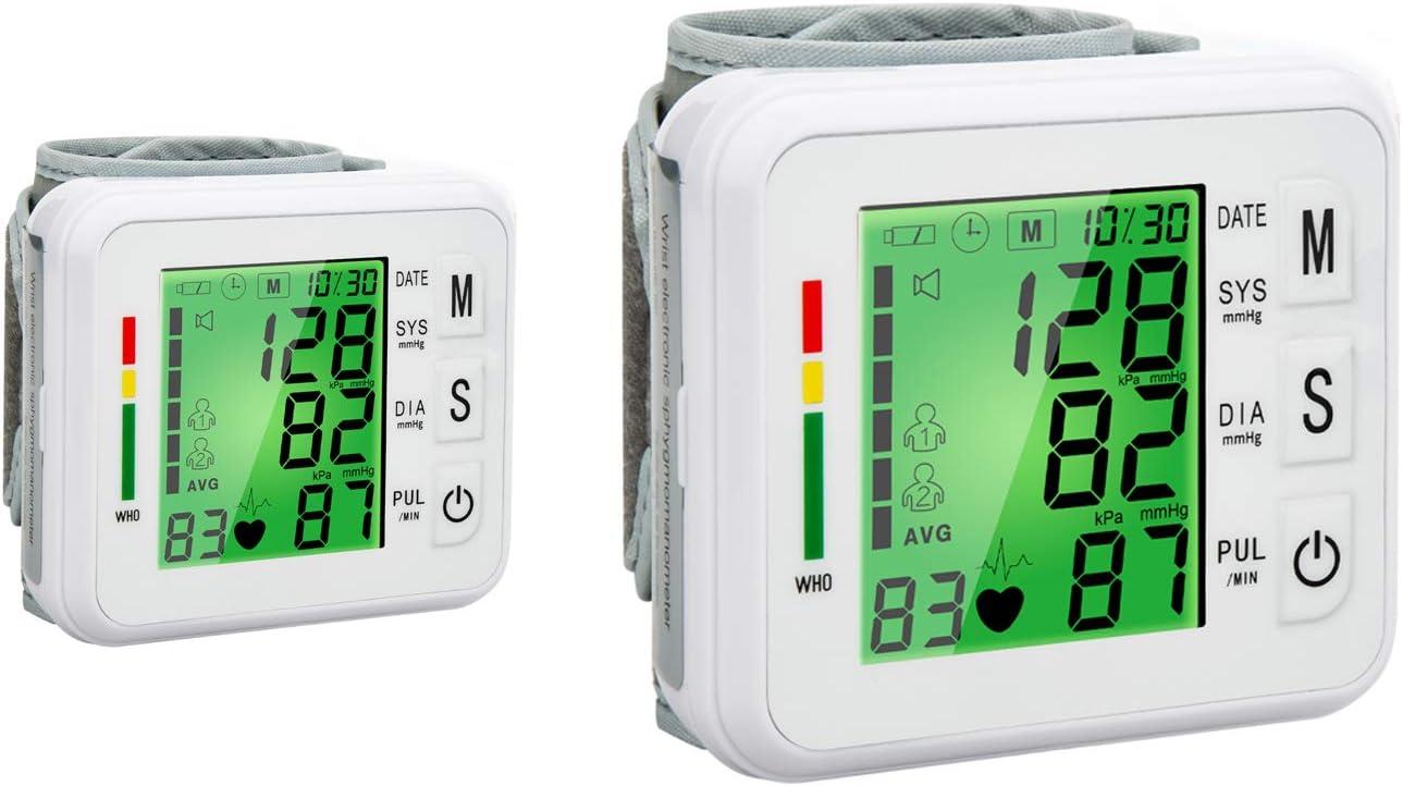 Wrist Digital BP Cuff Automatic BP Machine Large Tri-Backlit Rechargeable Wrist Blood Pressure Monitor