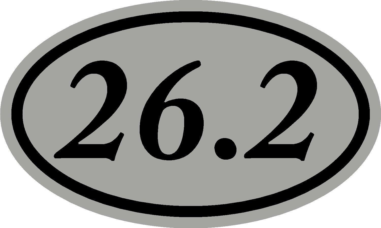 runner, running 26.2 oval marathon sticker,decal