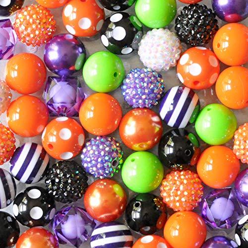 (Halloween 20mm Bubblegum Bead 50 Piece Bulk Set from Boutique Craft)