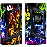 alien vaporizer - SPACE STICKERZ - SMOK ALIEN 220W Skin - Custom Protective Vinyl Decal for ecig - Best quality cover - Second life to your box mod, wrap and enjoy + BONUS STICKERS (Rainbow Smoke)