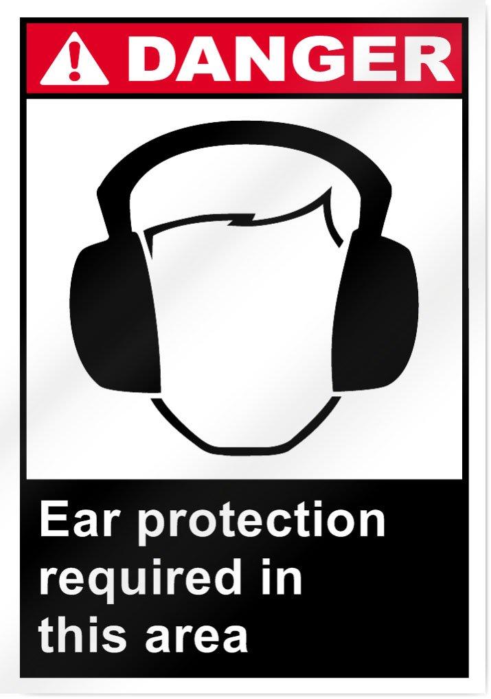 Letrero de protección para los oídos requerido en esta zona ...