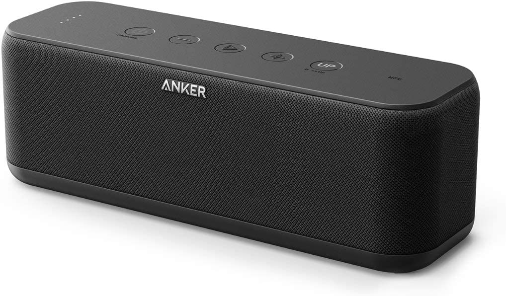 Bluetooth Speakers, Anker Soundcore Boost 20W Bluetooth Speaker with BassUp Technology, 12H Playtime, IPX5 Water-Resistant, Portable Speaker with Superior Sound Bass for iPhone, Samsung and More