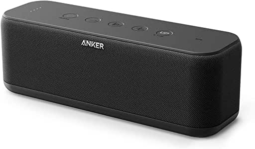Anker SoundCore Boost 20W Bluetooth Speaker with BassUp Technology - 12h Playtime, IPX5 Water-Resistant, Portable Battery with 66ft Bluetooth Range/Superior Sound & Bass for iPhone, Samsung and More