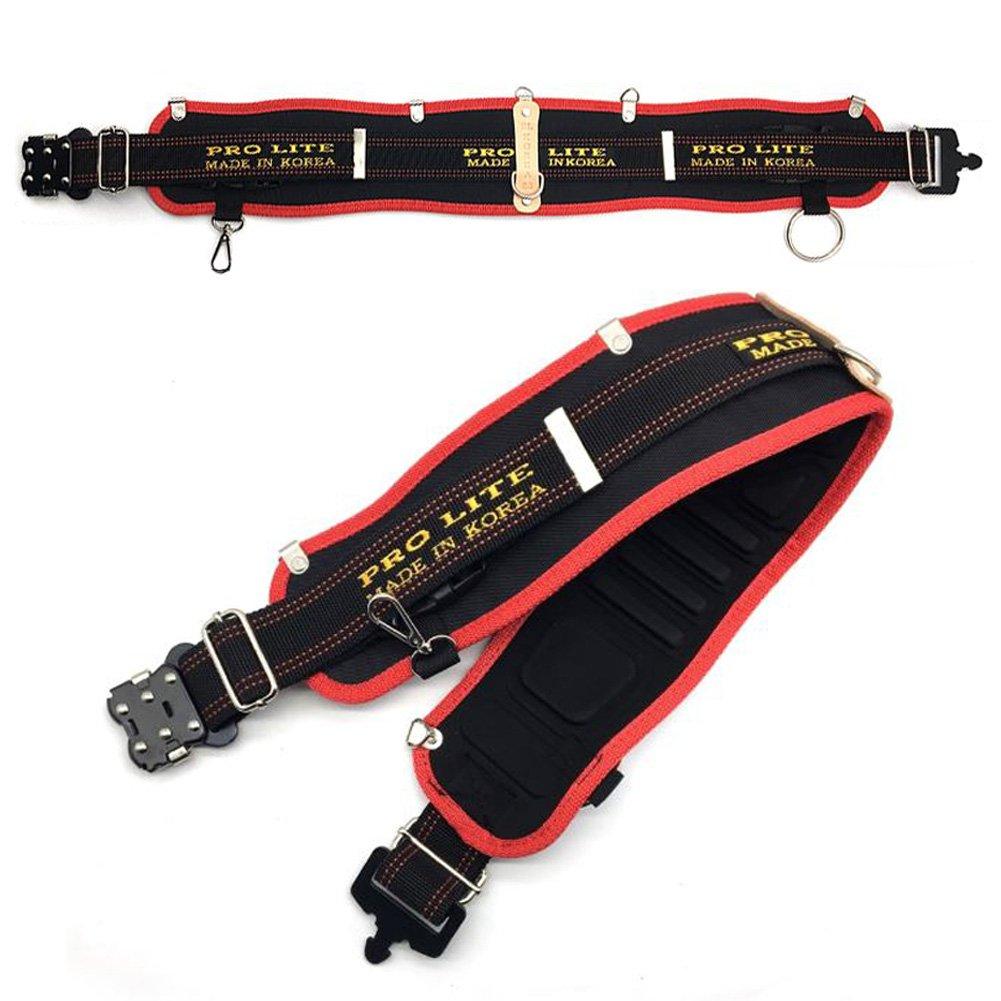 Electrical Maintenance Technician's Framer's Carpenter Tool Belt Work Organizer/Back Support Belt Molded Air Channel Padding Suspender Loops Hemmer Holder
