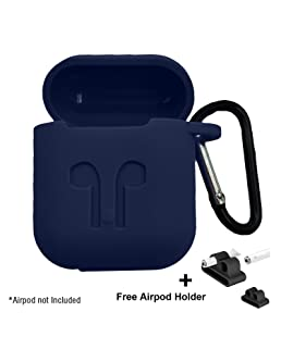 Brain Freezer Silicone Shock Proof Protection Sleeve Skin Carrying Box For Airpods (Blue)