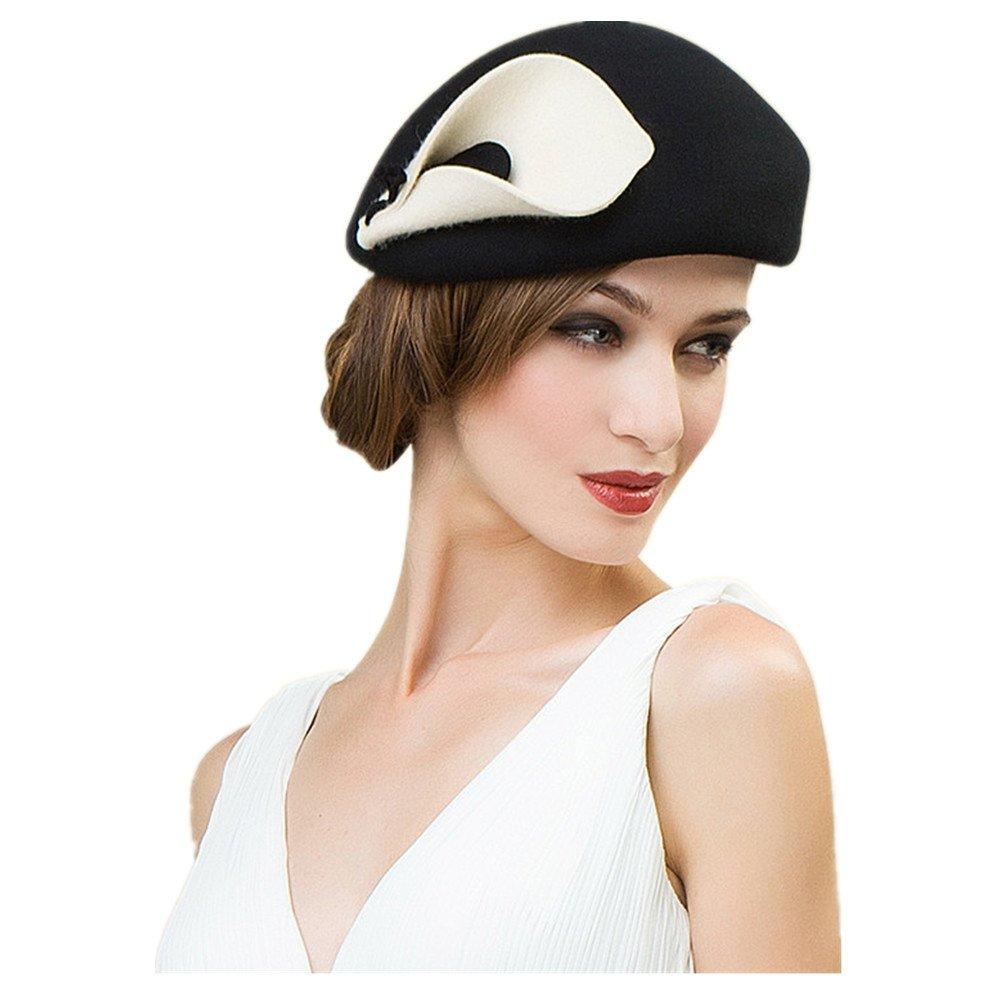 Lawliet Womens Beret Felt Wool Fascinator Cocktail Cheltenham Fesitval Hat A209