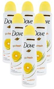Deodorant Spray Grapefruit & lemongrass Scent (6 Can)