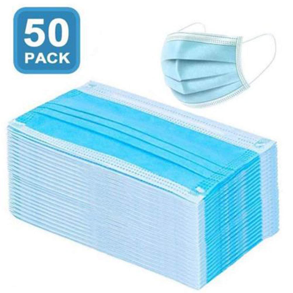 Mascarilla desechable, Mascarilla desechable: 50 películas protectoras contra el polvo dental y máscara protectora para uso diario con tres capas de carbón de bambú espesad