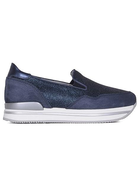 Hogan Slip On Sneakers Donna Hxw2220t671g4d0x05 Pelle Blu
