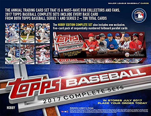 [2017 Topps Complete Baseball Factory Set of 700 Cards (+5 Bonus Parallel Cards)] (Baseball Parallel Card)