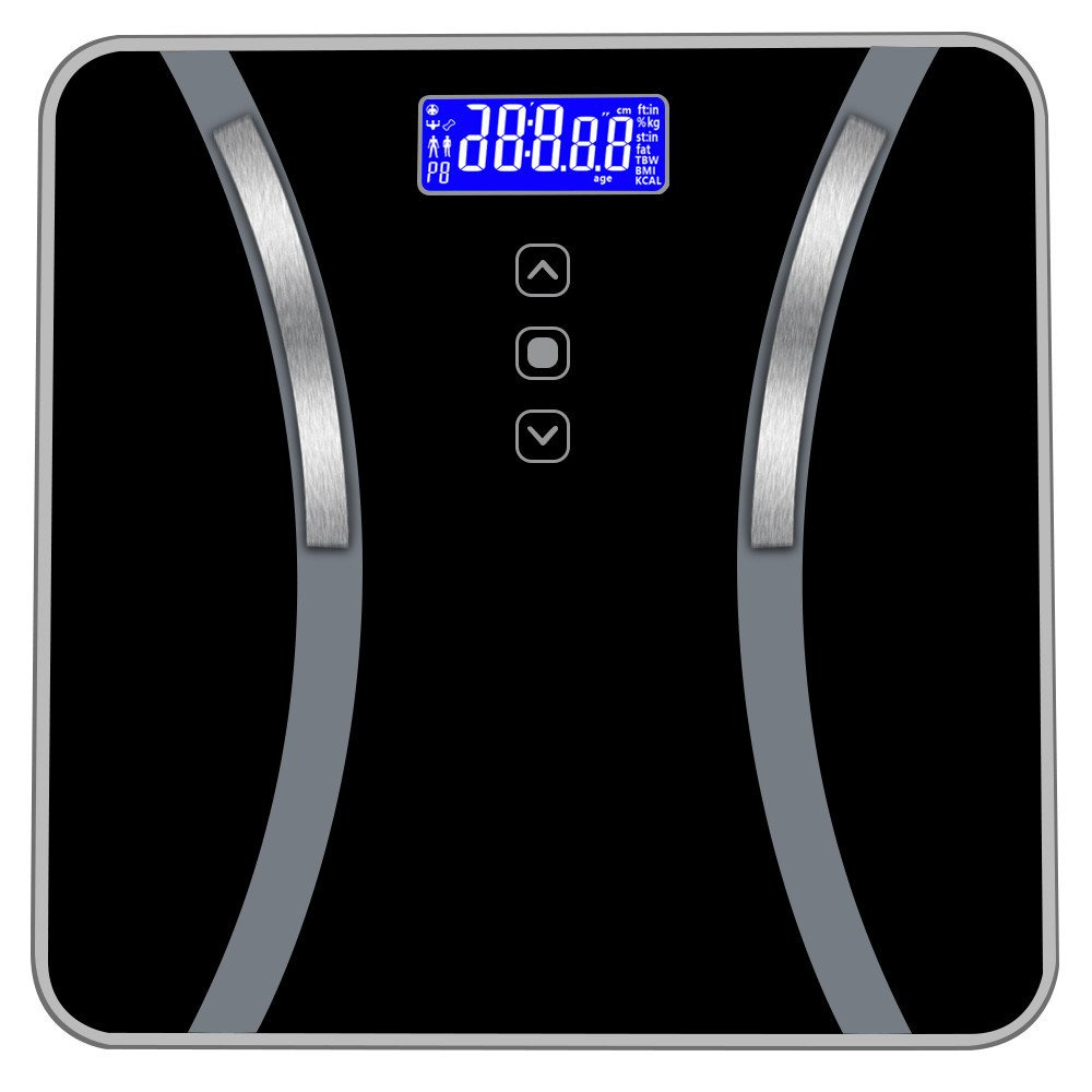 Hohaski Body Fat Scale- Digital Bathroom Scale- Boday Weight Scales- Smart Gender-Specific Body Composition Analyzer Health Monitor Calculate Weight| Fat| Water| Bone| Muscle| Bmi| Calories, 400 lbs