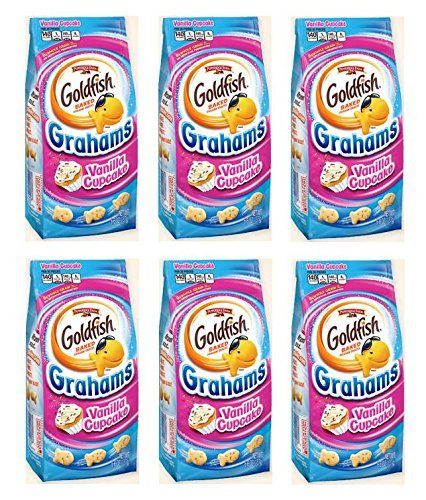 Pepperidge Farm Goldfish Baked Graham Snacks Vanilla Cupcake: 6 Packs of 6.6 Oz - Fd (Birthday Cake Goldfish)