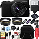 Panasonic LUMIX GX850 4K Mirrorless 16MP Black Digital Camera w/12-32mm F3.5-5.6 MEGA O.I.S. Lens Bundle includes 64GB SDXC Memory Card, Spare Batteries, Flash, 37mm Filter Kit, and More!