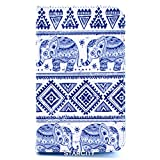 Galaxy Tab 4 7.0 Case, StarCity ® Samsung Galaxy Tab 4 7.0 [SM-T230] Case [Stand Feature], Folio Flip Leather Case Cover For Samsung Galaxy Tab 4 7.0 inch Android Tablet (Book Style_Elephant)