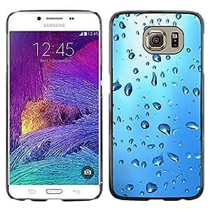 Smartphone Rígido Protección única Imagen Carcasa Funda Tapa Skin Case Para Samsung Galaxy S6 SM-G920 Blue Water Drop / STRONG
