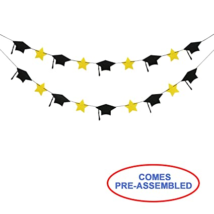 amazon com 2018 graduation party decorations felt graduation caps