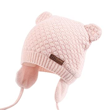 2c461e06b15 Image Unavailable. Image not available for. Color  Winter Baby Boy Girl Hat  Cute Bear ...