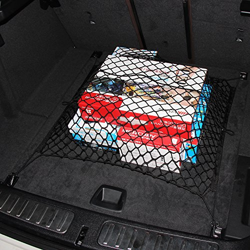 9 MOON Trunk SUV Rear Cargo Organizer Storage Net Flexible Nylon Trunk for Toyota Land Cruiser Prius 4Runner FJ Cruiser Highlander RAV4 Sienna Tacoma Venza